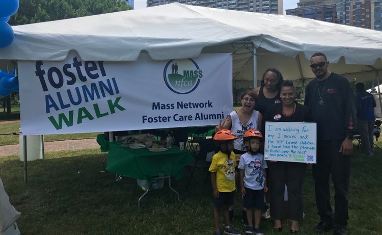 Rachael at the Foster Care Alumni Walk..