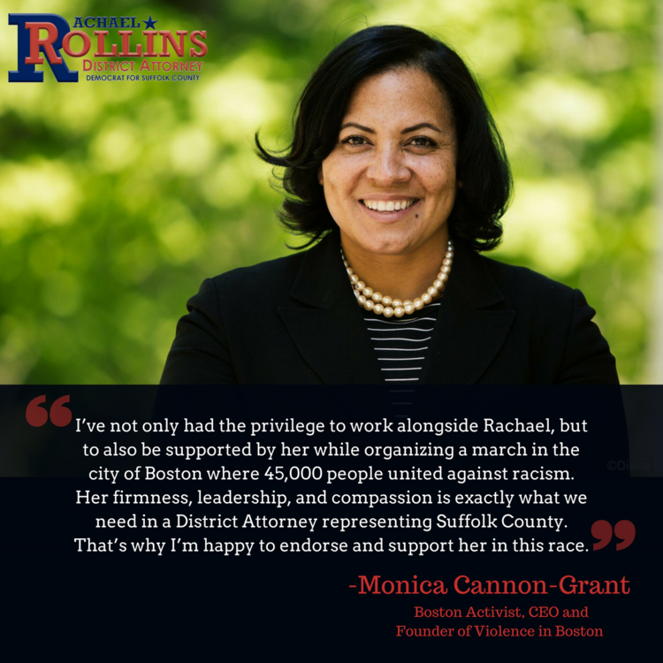 Boston activist Monica Cannon-Grant endorses Rachael!