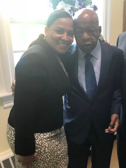 Rachael with Congressman John Lewis.